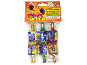 1207 - CHAMPAGNE PARTY POPPERS 6 PACK HEADERED