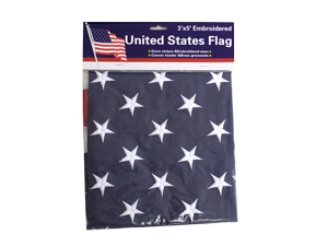 1419 - 3 X 5 AMERICAN FLAG EMBROIDER