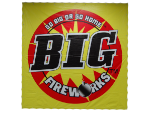 1431 - 8 X 8 BANNER BIGFIREWORKS - SOLD HERE