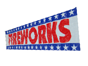 1452 - 2 X 8 BANNER FIREWORKS WITH ROPE