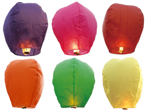 1539 - COLORED SKY LANTERN - ULTRA PREMIUM