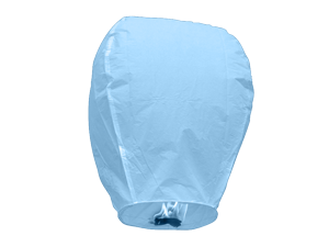 3828 - BABY BLUE SKY LANTERNS SOLID PACK
