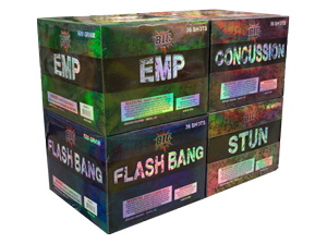 3893 - BIG ORDINANCE ASSORTMENT (FLASH BANG STUN CONCUSSION EMP)