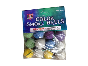 3928 - SMOKE BALLS COLOR CLAY 12 - PACK