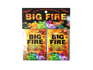 7025 - 2 PACK BIG FIRE W/HEADER - CAMPFIRE COLOR CHANGER