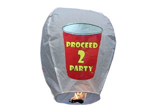 7354 - PROCEED TO PARTY SKY LANTERN