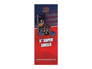 8350 - BANNER W/ STAND - 5 Inch Super Shell