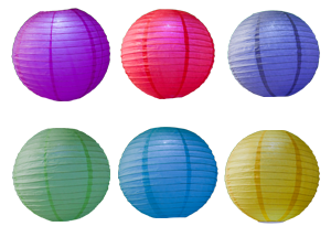 7418 - LED LARGE COLOR PARTY LANTERNS